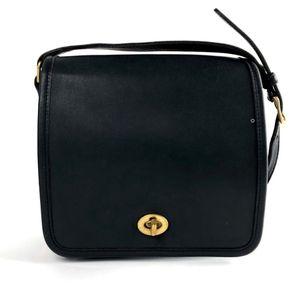 COACH Companion Leather Crossbody Vintage Black